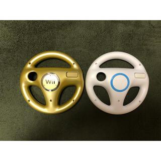 ニンテンドウ(任天堂)のWii マリオカート ハンドル rvl 024 2個セット(家庭用ゲーム機本体)
