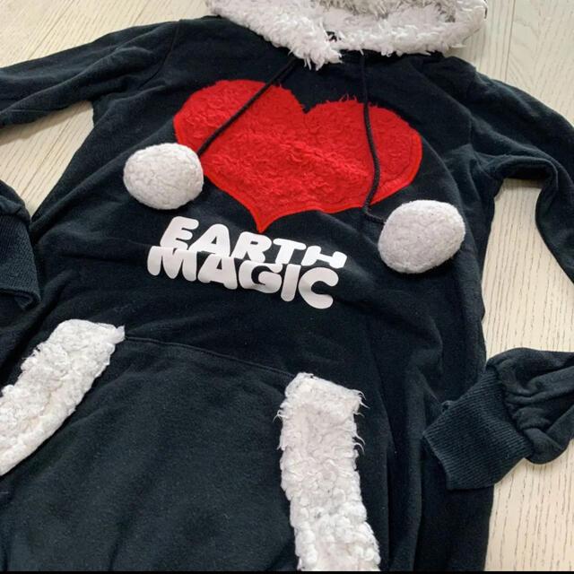 EARTHMAGIC(アースマジック)のアースマジック モコモコワンピース 130 キッズ/ベビー/マタニティのキッズ服女の子用(90cm~)(ワンピース)の商品写真
