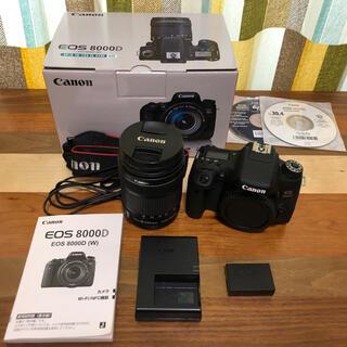 キヤノン(Canon)のCanon EOS 8000D(W) EF-S18-135レンスキット (デジタル一眼)