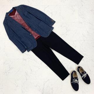 イーブス(YEVS)の【新品】YEVS 赤 ロンT トップス メンズ S(Tシャツ/カットソー(七分/長袖))