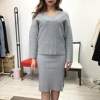 【同梱限定】ニットセットアップ グレー(セット/コーデ)