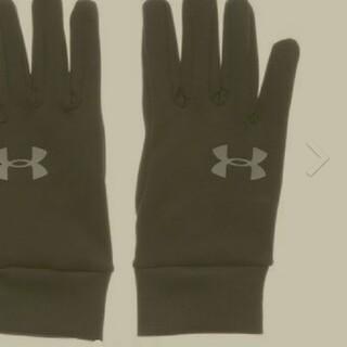 アンダーアーマー(UNDER ARMOUR)のアンダーアーマー LG ブラック グローブ 防寒 メンズ レディース 冬用(手袋)