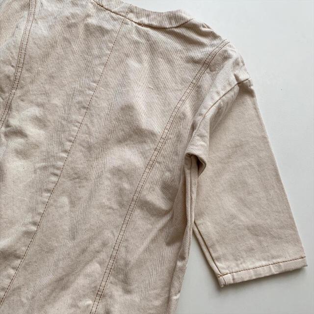 韓国子供服 monbebe デニムロンパース キッズ/ベビー/マタニティのベビー服(~85cm)(ロンパース)の商品写真