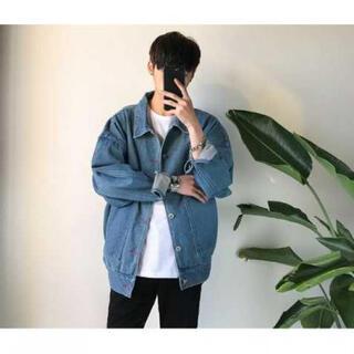 【大流行中】ビックシルエット デニムジャケット ハレ系 韓国ファッション XL(Gジャン/デニムジャケット)
