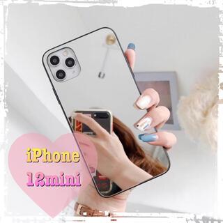 鏡面ミラー シンプルアイフォンケース iPhone12mini(iPhoneケース)