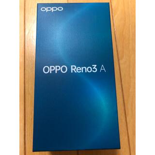 オッポ(OPPO)のoppo Reno3A(ブラック simロック解除済)(スマートフォン本体)