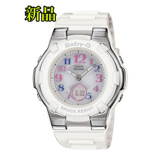 ベビージー(Baby-G)の[カシオ] 腕時計 ベビージー 電波ソーラー BGA-1100GR ホワイト(腕時計)