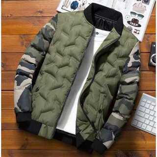 2XL(表記4XL)ブルゾン アウター メンズ 防寒着 中綿ジャケット 迷彩柄(ダウンジャケット)
