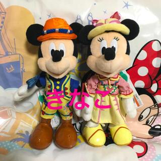 ディズニー(Disney)の【値下げ中】ディズニーシー 19周年 ぬいぐるみバッジ ミッキー ミニー(キャラクターグッズ)