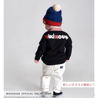 mikihouse - 【人気色!新品未使用】ミキハウス バックロゴトレーナー 黒130cm