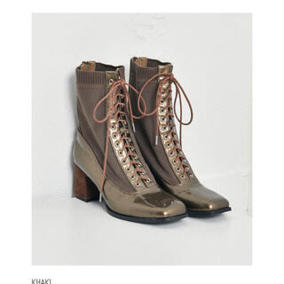 ALEXIA STAM - Enamel Braided Lace-up Boots