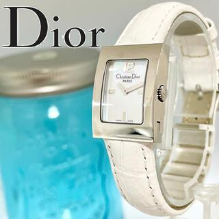 Christian Dior - 78 クリスチャンディオール時計 美品ホワイトシェル 新品電池 レディース腕時計