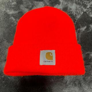 カーハート(carhartt)のcarhartt カーハート ニット帽 オレンジ(ニット帽/ビーニー)