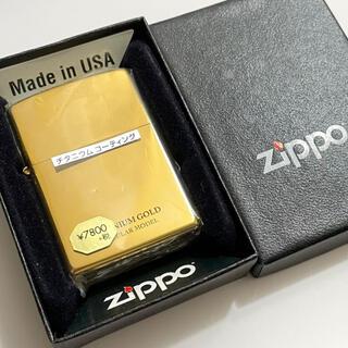 ジッポー(ZIPPO)のzippo チタニウムゴールド 新品 【購入時コメント不要です】(タバコグッズ)