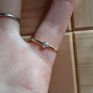 アーカー(AHKAH)の最終値下げ アーカー AHKAH  K18YG ダイヤ ジェーンリング(リング(指輪))