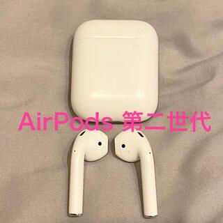 アップル(Apple)のAirPods 第二世代(動作確認済み)(ヘッドフォン/イヤフォン)