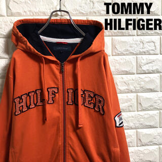 トミーヒルフィガー(TOMMY HILFIGER)のトミーヒルフィガー フルジップスウェットパーカー 刺繍 メンズMサイズ(パーカー)