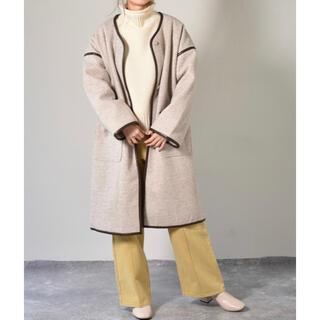 レトロガール(RETRO GIRL)のRETRO GIRL 裏キルトパイピングコート(ロングコート)