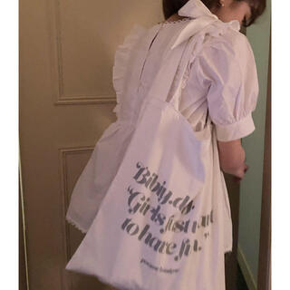 one after another NICE CLAUP - Bibiy. Ribbon tote bag bibiy