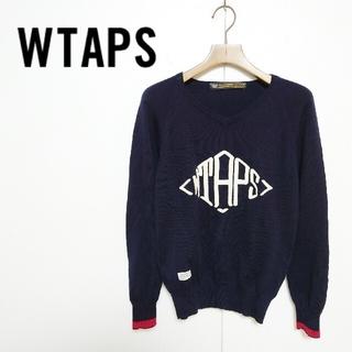 W)taps - WTAPS ダブルタップス ビッグロゴ刺繍 ニット セーター