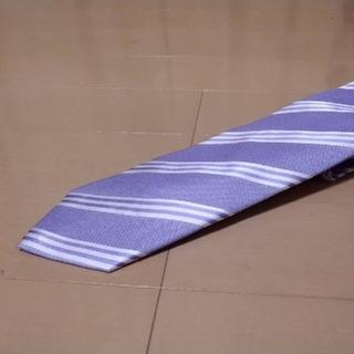 美品ブリックハウス正規品   薄紫色系   レジメンタルストライプネクタイ(ネクタイ)