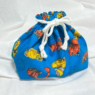 お弁当袋 ブルドーザー 車 ブルー(外出用品)