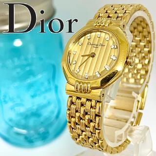 Christian Dior - 144 クリスチャンディオール時計 レディース腕時計 12Pダイヤ 新品電池