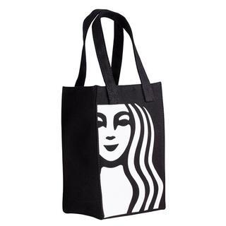 スターバックスコーヒー(Starbucks Coffee)のスターバックス 台湾 スタバ ドリンクホルダートートバッグ 黒 女神(トートバッグ)