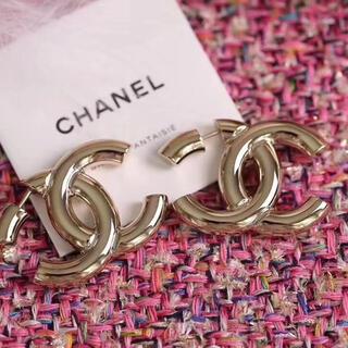 CHANEL - 一点 シャネル chanel  CCマーク ゴールド ピアス