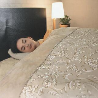 シャルレ(シャルレ)の贅沢掛け布団カバー、光電子素材で圧倒的な暖かさ❣️シングル、ベージュ(シーツ/カバー)
