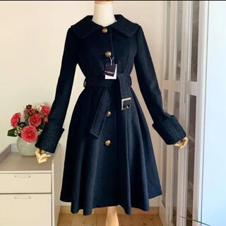 ロイスクレヨン(Lois CRAYON)の新品未使用 ロイスクレヨン フレアワンピース風 シンプルなデザインコート(ロングコート)