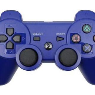 PS3 コントローラー ブルー Blue 青色 Bluetooth 互換品(その他)