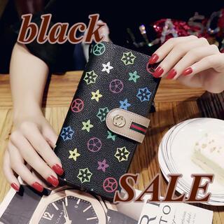 セール【財布/ブラック】長財布 大容量 男女兼用 ノーブランド 新品 多機能財布(財布)