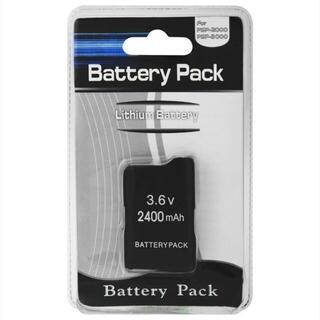 パッケージ品 PSP2000 大容量バッテリー 2400mAh 電池(その他)