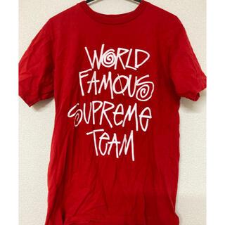 Supreme - supreme Tシャツ 赤 worldfamous