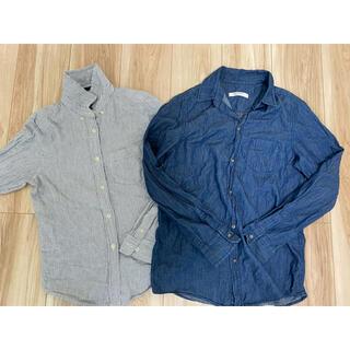 ヘザー(heather)のデニムシャツ ストライプシャツ(シャツ/ブラウス(長袖/七分))