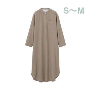ムジルシリョウヒン(MUJI (無印良品))の無印良品   インド綿 フランネルクルタ  婦人・S~M  ブラウン(パジャマ)