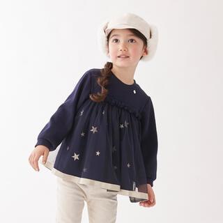 プティマイン(petit main)のmoa様専用★プティマイン  星 チュール トップス 120(Tシャツ/カットソー)