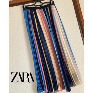 ZARA - ZARA◆カラフルプリーツロングスカート