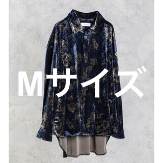 STUDIOUS - ADRER 420枚限定 ヴィンテージフラワーベロアシャツ ネイビー 再販無し