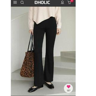 dholic - DHOLIC フレアパンツ ブラック