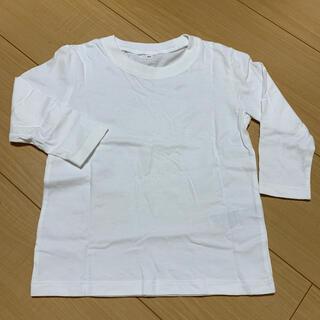 ムジルシリョウヒン(MUJI (無印良品))の無印良品 白無地ロンT 90(Tシャツ/カットソー)