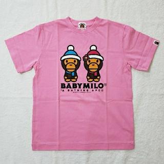 アベイシングエイプ(A BATHING APE)の【新品】BAPE KIDS ⭐️ Tシャツ ピンク 140(Tシャツ/カットソー)