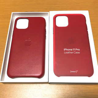 Apple - iPhone 11 Pro 純正 レザーケース (PRODUCT)RED