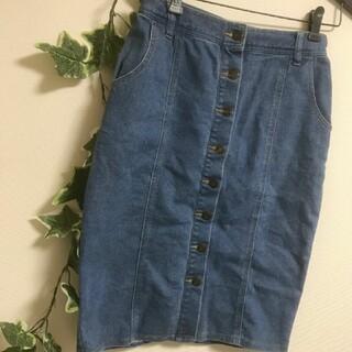 dazzlin - dazzlin フロントボタンデニムタイトスカート Mサイズ
