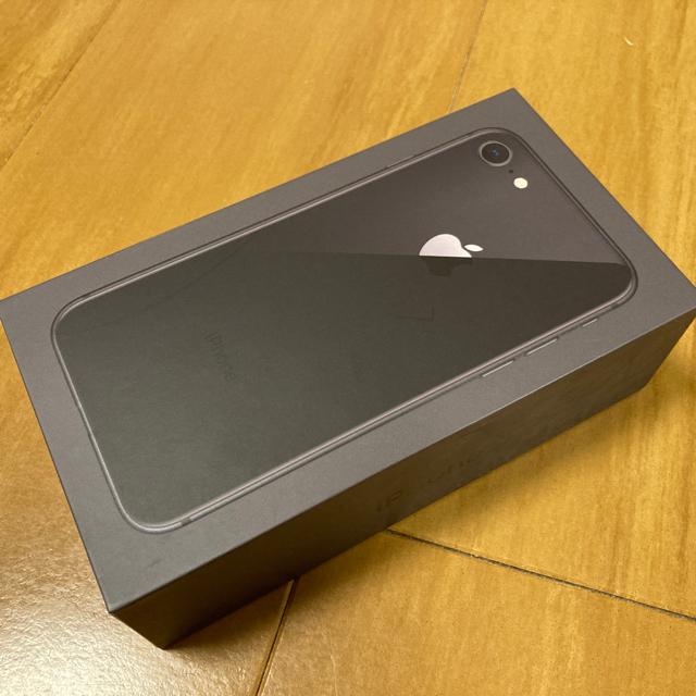 iPhone(アイフォーン)のiPhone8 64GB SIMフリー スペースグレイ スマホ/家電/カメラのスマートフォン/携帯電話(スマートフォン本体)の商品写真