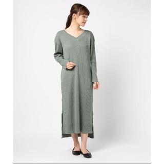 green label relaxing - グリーンレーベルリラクシング  長袖ワンピース   ★美品★