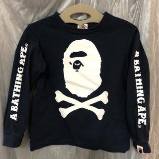 アベイシングエイプ(A BATHING APE)のbape kids 100/110 ローンT 長袖Tシャツ エイプ ベイプキッズ(Tシャツ/カットソー)