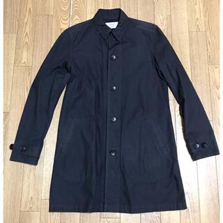 ステュディオス(STUDIOUS)のSTUDIOUS 製品染めコットンシャツコート ステンカラー S 黒 ブラック(ステンカラーコート)