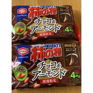 カメダセイカ(亀田製菓)の期間限定 亀田の柿の種 チョコ&アーモンド 4袋×2個(菓子/デザート)
